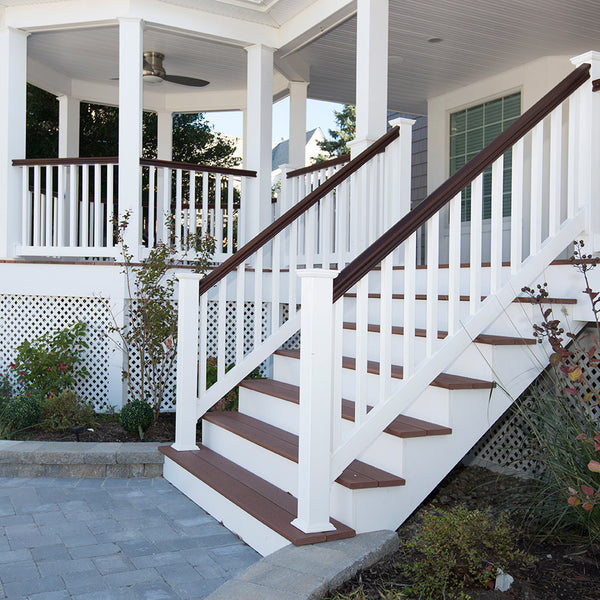 Vinyl Railing Kit with Colonial Balusters | American ...