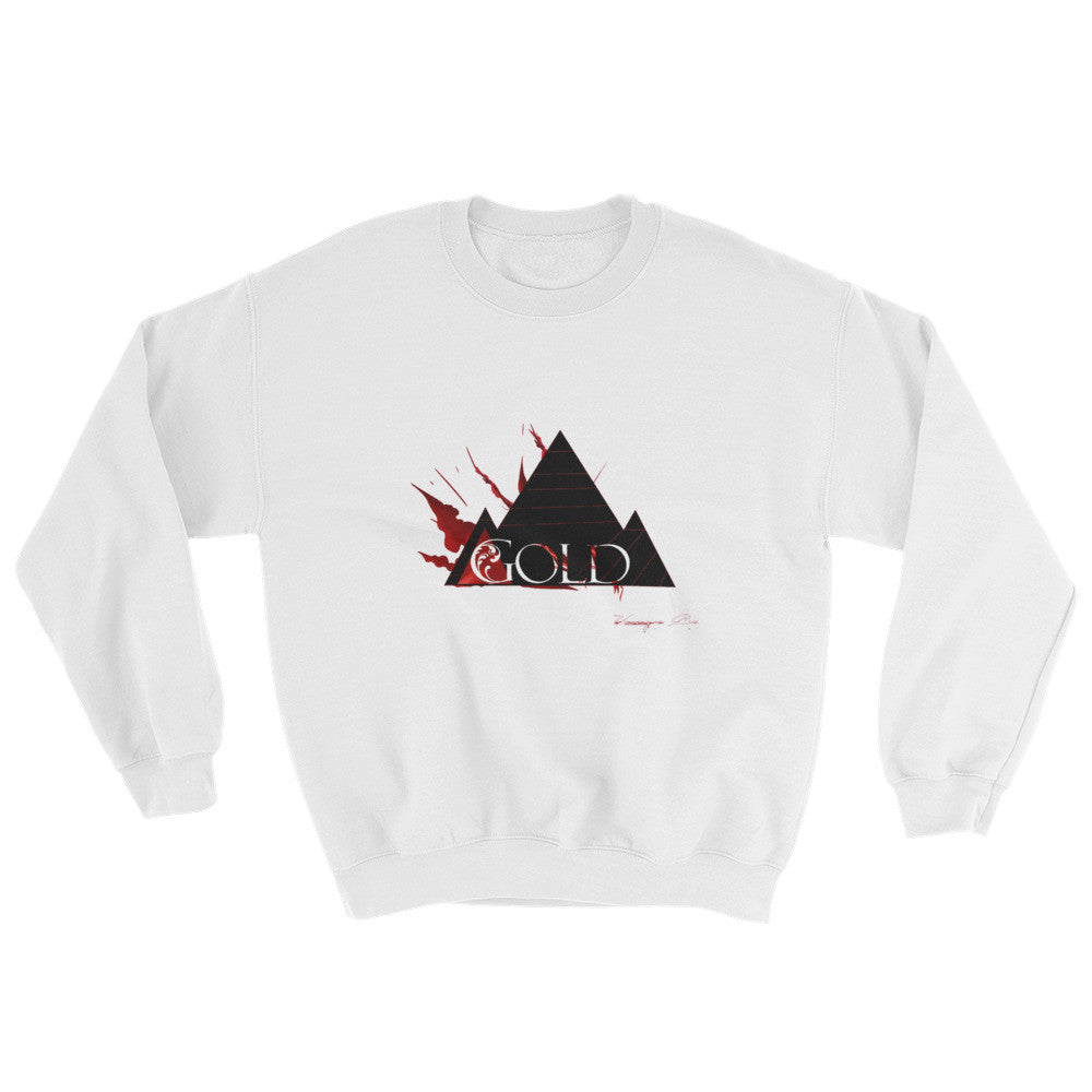 Gold Up In Flames Sweatshirts