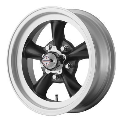 American Racing VN105D TORQ THRUST D SATIN BLACK W/ MACHINED LIP