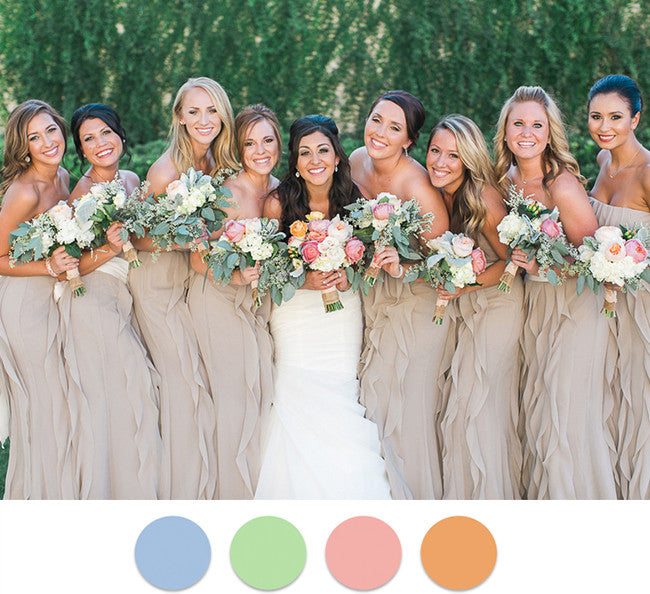 Top 5 Colors For Summer Bridesmaid Dresses