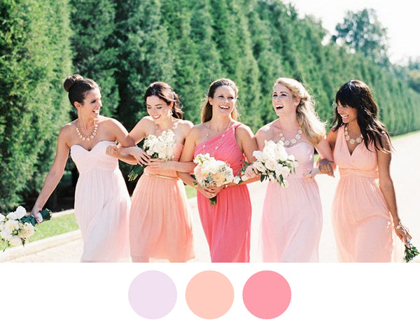 sherbet-coral-peach-bridesmaid-dresses