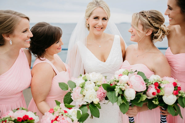 Bridesmaids Blush Colored Dress