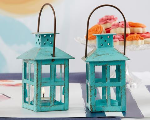 Blue Tea Light Lantern