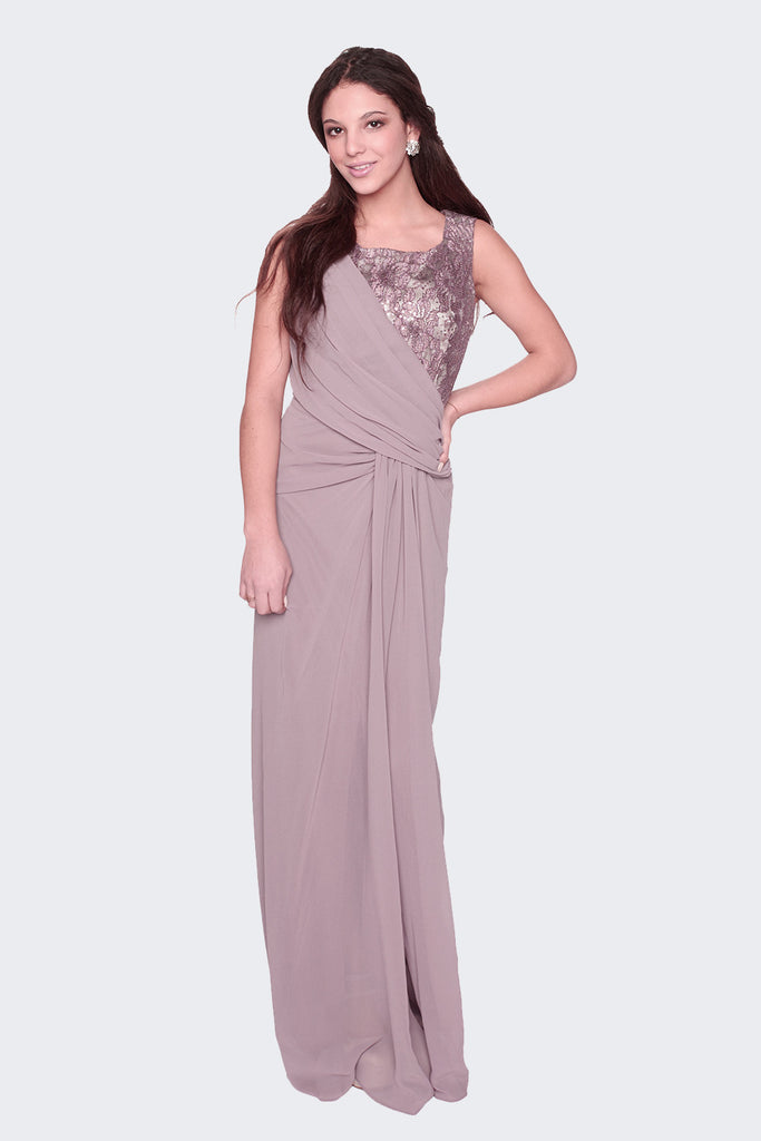 asymmetric-lace-draped-mauve-evening-dress