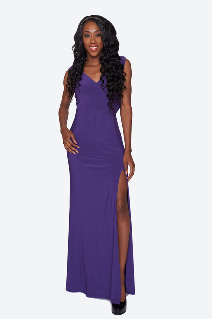 Draped Cowl Evening Dress With Stones- The Arianna – Bubbling Brides