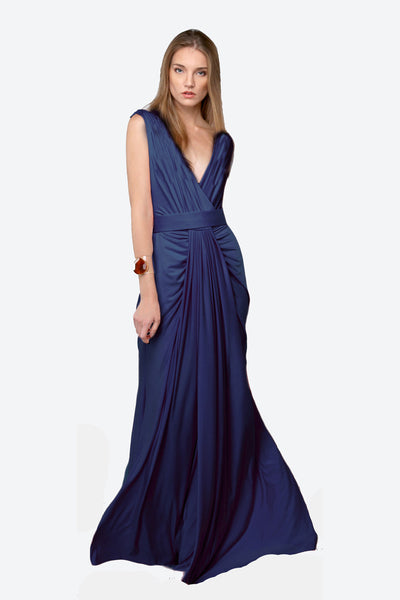 featured-Gathered Front Silky Jersey Bridesmaid Dress
