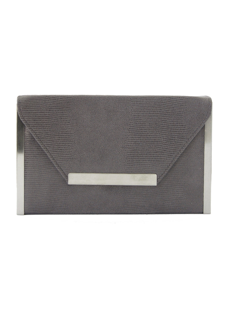featured-Charcoal Textured Envelope Clutch
