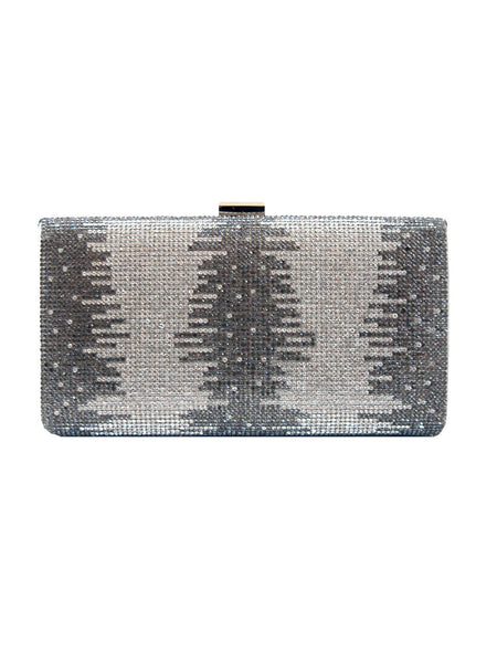 featured-Silver Glitzy Rhinestone Clutch