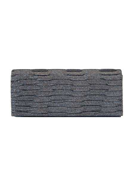 Mira Shimmer Ruched Clutch - Champagne
