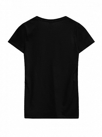 Black Round Neck Short Sleeve Basic T-shirt Top