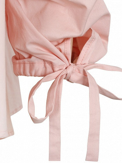 Pink Sweetheart Tie Cuff Bandeau Top