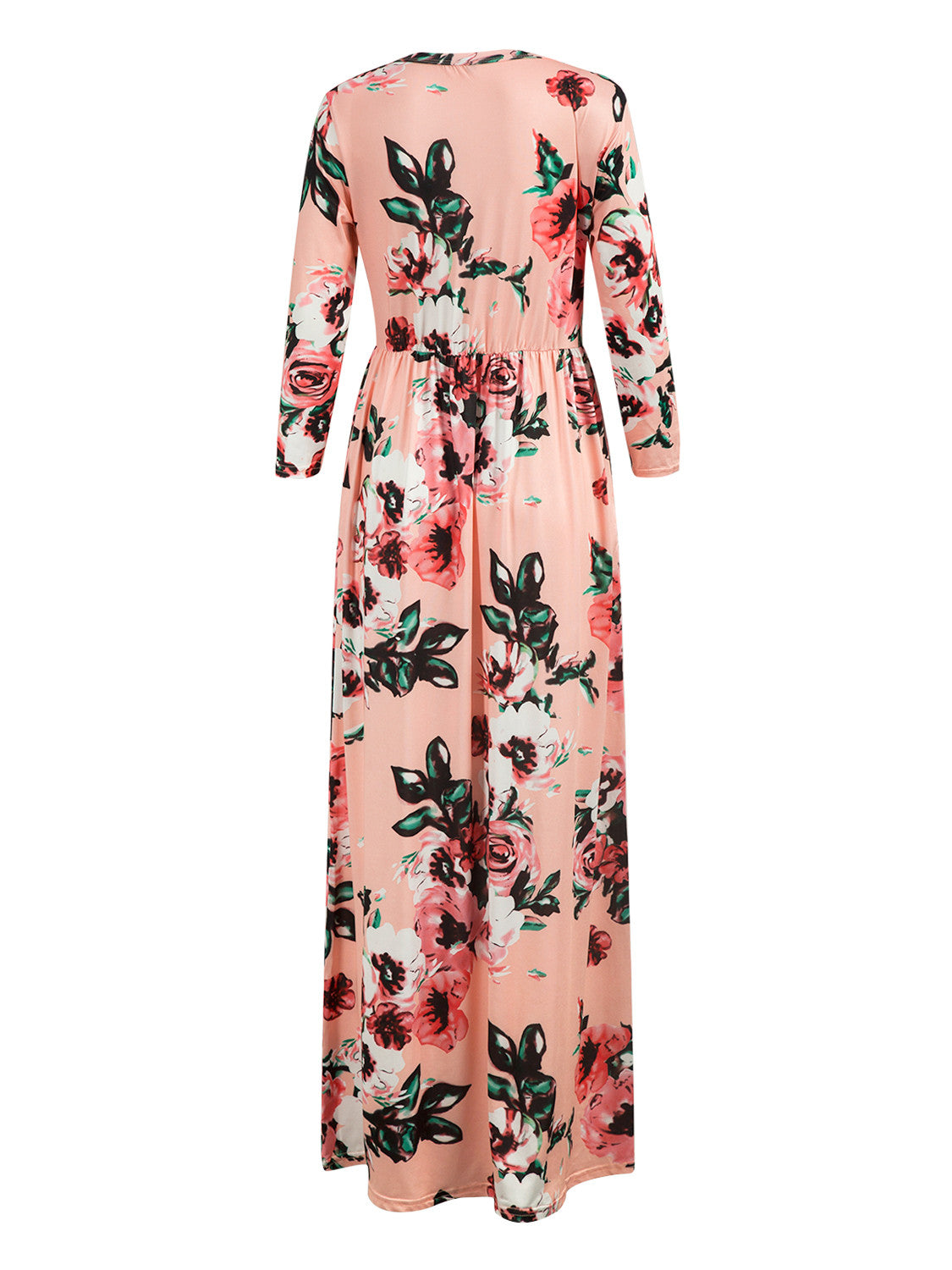 712f49745 Pink Floral Long Sleeve Maxi Dress – MYNYstyle