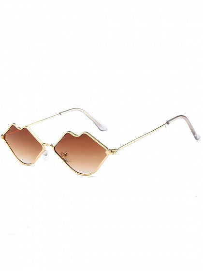 Dark Brown Lip Frame Sunglasses
