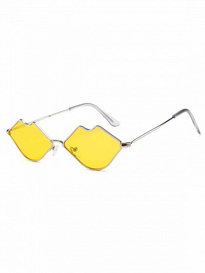 Yellow Lip Frame Sunglasses