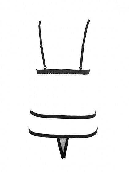 Black Cut Out Detail Bralet And High Waist Bottom