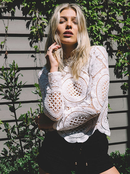 White Crochet Top - MYNYstyle - 1