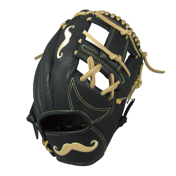 "[Black] ""The Mustache"" 11.25"" Game-Ready Glove - Gloveworks mfg. co."