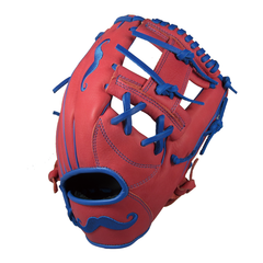 "[Scarlet Red] ""The Mustache"" 11.25"" Game-Ready Glove - Gloveworks mfg. co."
