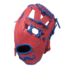 "[Scarlet Red] ""The Mustache"" 11.5"" Game-Ready Glove - Gloveworks mfg. co."