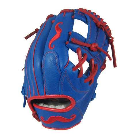 "[Blue] ""The Mustache"" 11.5"" Game-Ready Glove - Gloveworks mfg. co."