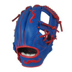 "[Blue] ""The Mustache"" 11"" Game-Ready Glove - Gloveworks mfg. co."