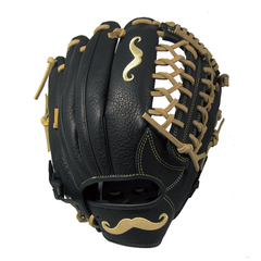 "[Black] ""The Mustache"" 12.5"" Game-Ready Glove - Gloveworks mfg. co."
