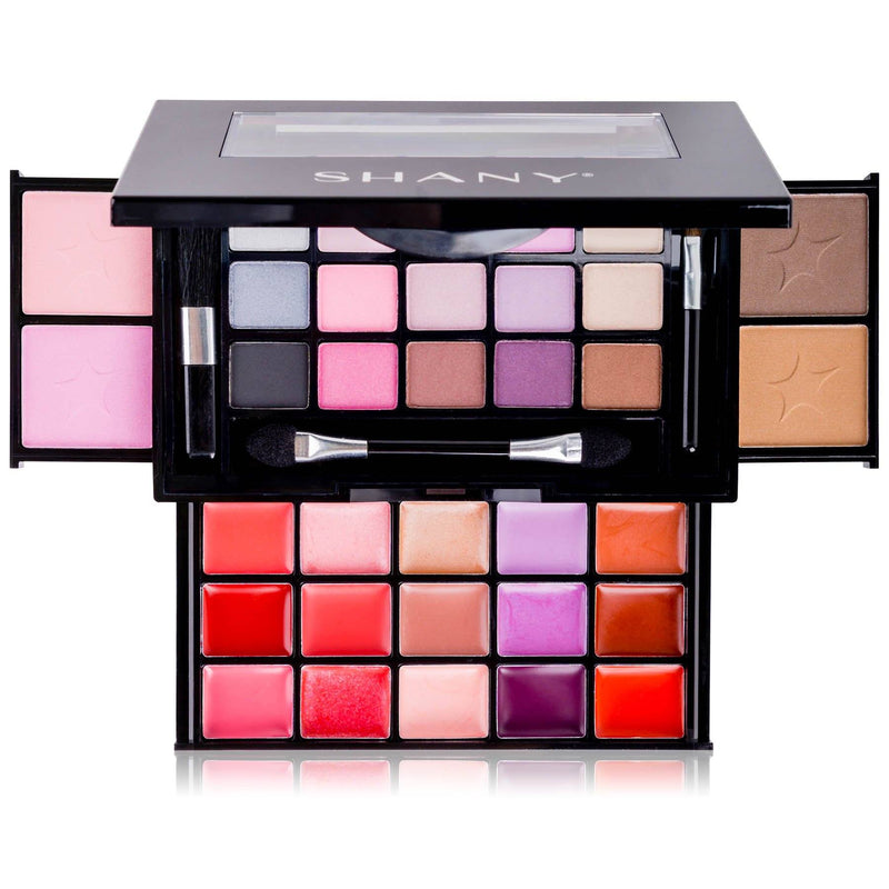 SHANY Fierce & Flawless All-in-One Compact -  - ITEM# SH-4003 - Makeup set train case Contour makeup set kit gift,beginner makeup kits for teens makeup palette,Holiday Gift Set Beginner Makeup tools brush sets,pre teen make up makeup kits for teens girls,Christmas gift Dress-Up Toy pretend Makeup kit set - UPC# 616450443962