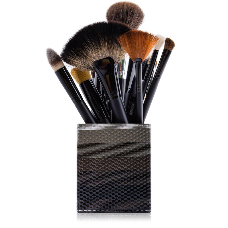 SHANY Makeup Brush Holder - Midnight Grey - MIDNIGHT GREY - ITEM# SH-BRHL04 - makeup brush holder bag display pencil pen holder,Make-up cosmetics brush holder display storage,organizer professional compartments part Portable,applicator brush holder storage brush bag pouch,makeup organizer pen organizer cosmetics pouch set - UPC# 616450440329