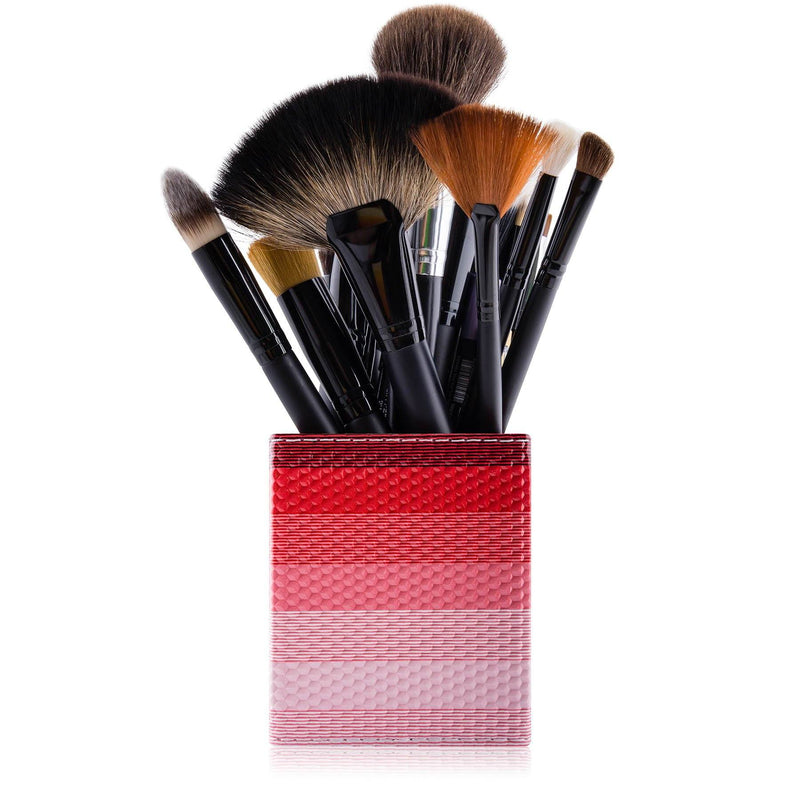 SHANY Makeup Brush Holder - Blossom Red - BLOSSOM RED - ITEM# SH-BRHL07 - makeup brush holder bag display pencil pen holder,Make-up cosmetics brush holder display storage,organizer professional compartments part Portable,applicator brush holder storage brush bag pouch,makeup organizer pen organizer cosmetics pouch set - UPC# 616450440350