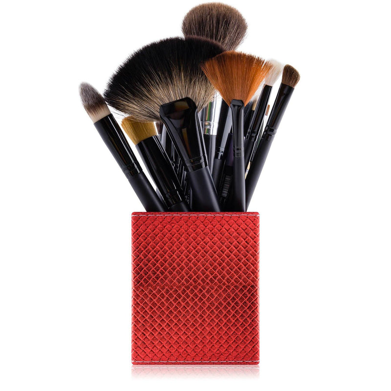 SHANY Makeup Brush Holder - Tootsie Red - TOOTSIE RED - ITEM# SH-BRHL09 - makeup brush holder bag display pencil pen holder,Make-up cosmetics brush holder display storage,organizer professional compartments part Portable,applicator brush holder storage brush bag pouch,makeup organizer pen organizer cosmetics pouch set - UPC# 616450440374