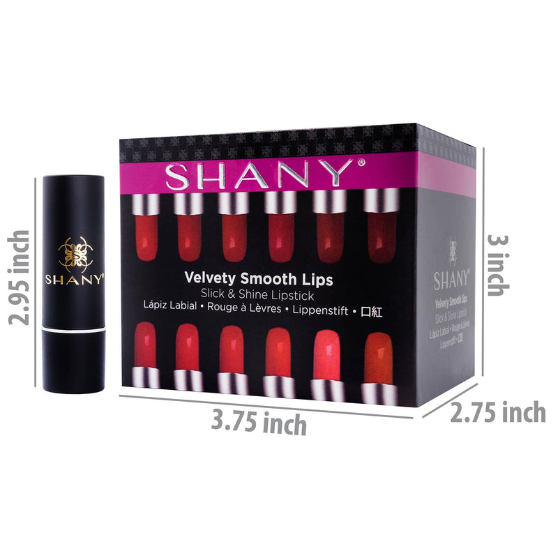 SHANY Slick & Shine Lipstick Set - 12 color
