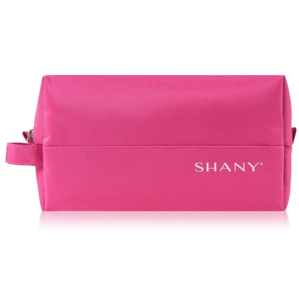 SHANY Nylon Zippered Toiletry and Makeup Bag – Water-resistant, Scratch-proof, and Lightweight Cosmetics Organizer with Handle – PINK - SHOP  - TRAVEL BAGS - ITEM# SH-NT1008-PK