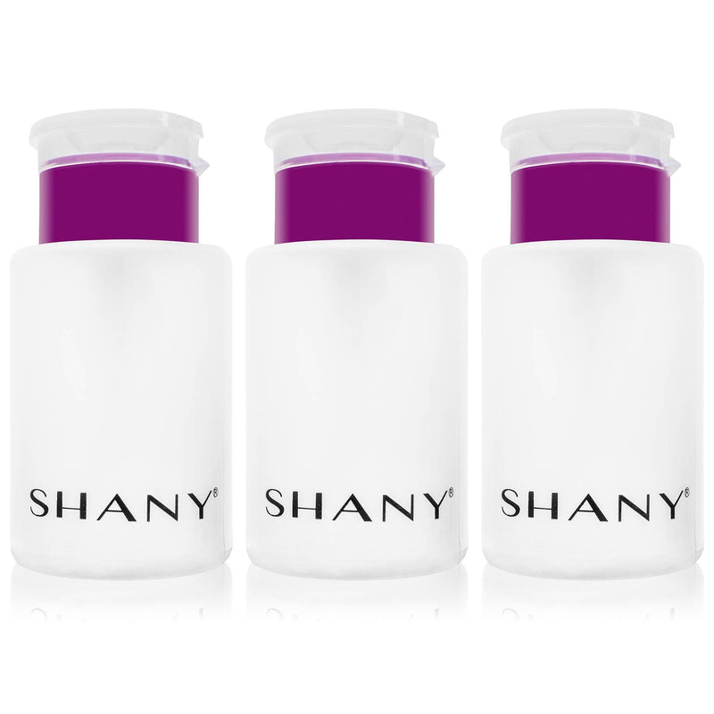 SHANY Push-Top Liquid Dispenser with Snap Flip Top- 5.4 oz Pack of 3 - SHOP 3PC - CONTAINERS - ITEM# SHG-PLLT5OZ-WH-X3