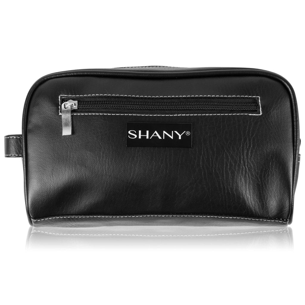 SHANY Travel Toiletry Bag and Dopp Kit - BLACK -  - ITEM# SH-NT1004-BK - mens toiletry travel bag Canvas Vintage Dopp Kit,Travel makeup women girls train case box storage,Shaving Grooming bag storage bag toiletry bag TSA,Portable Shaving Bag gift for men him father son,Large small hanging compartment professional kits - UPC# 700645941859