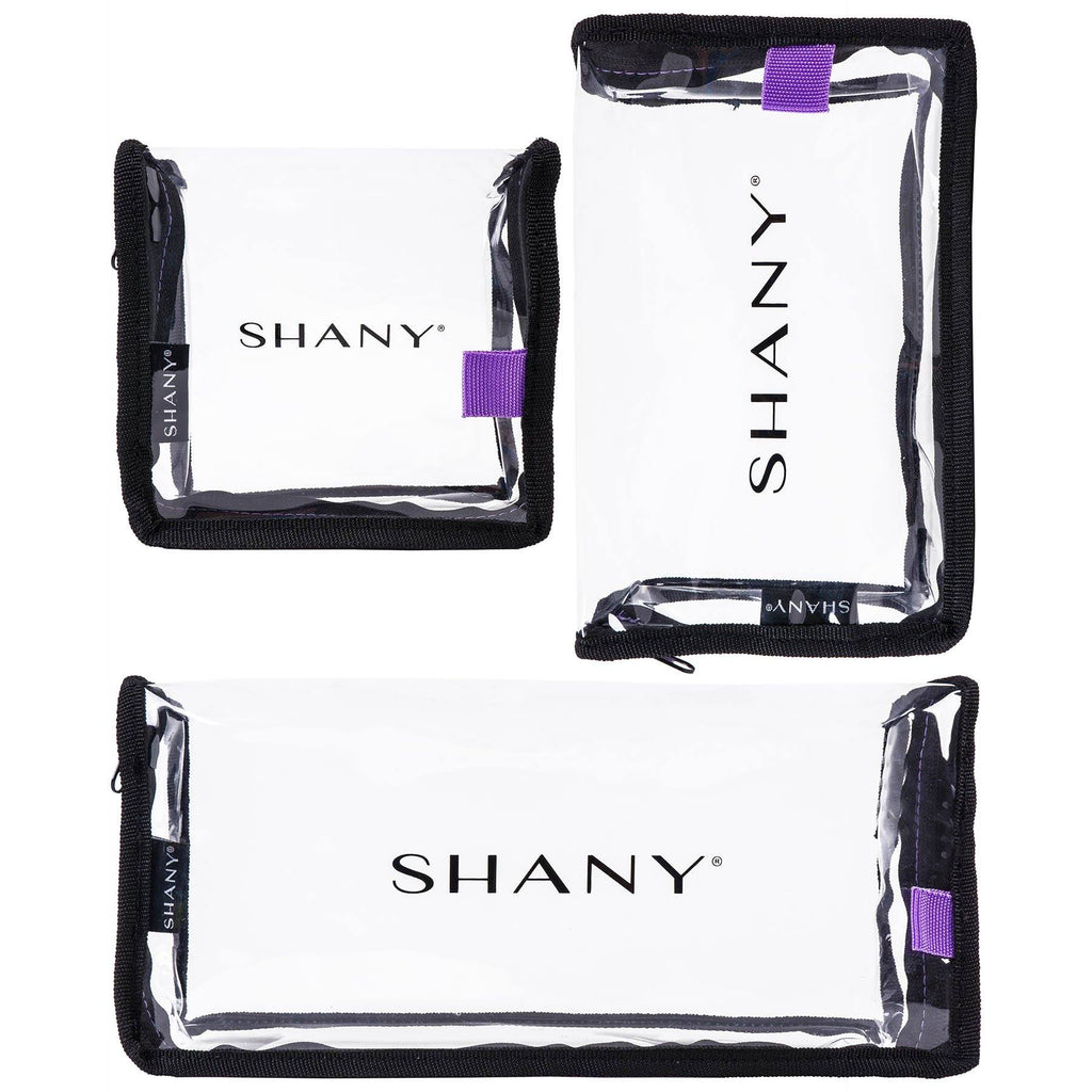 SHANY Traveling Makeup Artist Bag Set of 3 -  - ITEM# SH-PC14-BK - Clear cosmetic bags travel waterproof makeup carry,Toiletry stationery zipper large organizer durable,Victoria secret dooney guess women purse small kit,Personal transparent pvc portable pouch storage,Shampoo bathroom toothbrush caddy container case - UPC# 700645941798