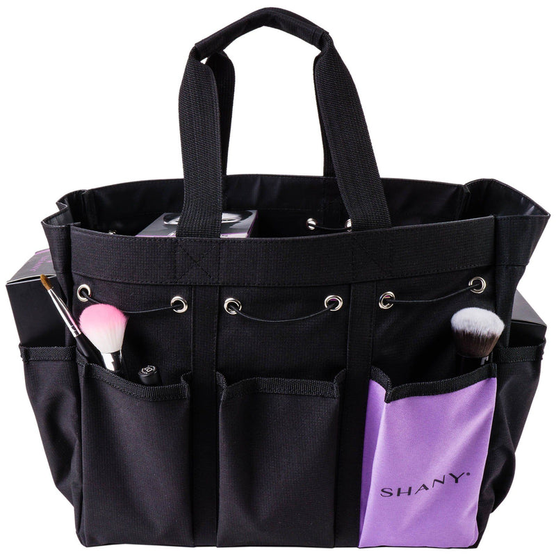 SHANY Beauty Handbag and Makeup Organizer Bag -  - ITEM# SH-PC21-BK - Cosmetic toiletry bag organizer pouch purse travel,Makeup women girls train case box storage holder,Kate spade victorias secret hello kitty lesportsac,Container handbag gadget zipper portable luggage,Large small hanging compartment professional kits - UPC# 700645933854