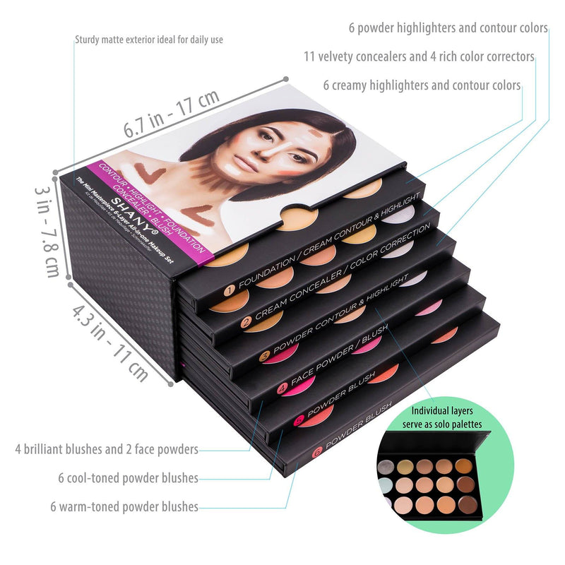 "SHANY Mini Masterpiece Makeup Kit– Shaping, Highlighting  and Contouring Palettes - 6PC - ITEM# SH-6L - <span><span style=""color: #444343;""><span style=""font-family: times new roman,serif;""><span style=""font-size: 12.0pt;"">The Mini Masterpiece 6 Layer Makeup Set is an all-in-one contour and highlighting makeup kit wit"