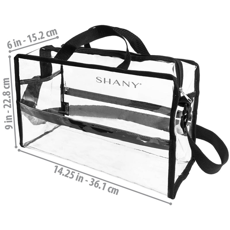 SHANY Clear PVC Water-Resistant Travel Tote Bag -  - ITEM# SH-PC16-BK - Best seller in cosmetics TRAVEL BAGS category