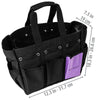 SHANY Beauty Handbag and Makeup Organizer Bag – Black Canvas -  - ITEM# SH-PC21-BK - Part of SHANY's new line of travel-ready bags, the Black Canvas Beauty Handbag and Makeup Organizer Bag is a roomy handbag ideal for beauty professionals. At 12.5 x 10.5 x 7.5in, it's spacious enough to carry full-size hair tools, bea