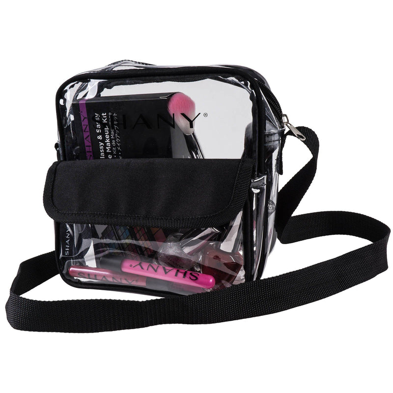 SHANY Clear All-Purpose Cross-Body Messenger Bag -  - ITEM# SH-PC12-BK - Best seller in cosmetics TRAVEL BAGS category
