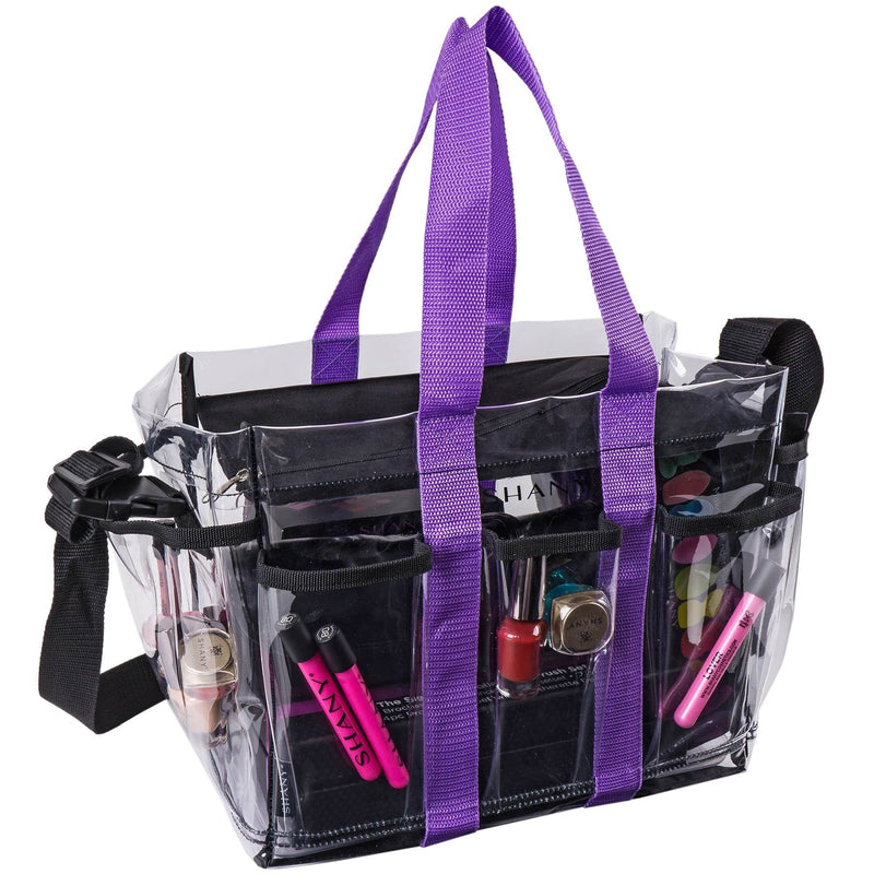 SHANY Clear Makeup Organizer and Travel Caddy -  - ITEM# SH-PC20-BK - Best seller in cosmetics TRAVEL BAGS category