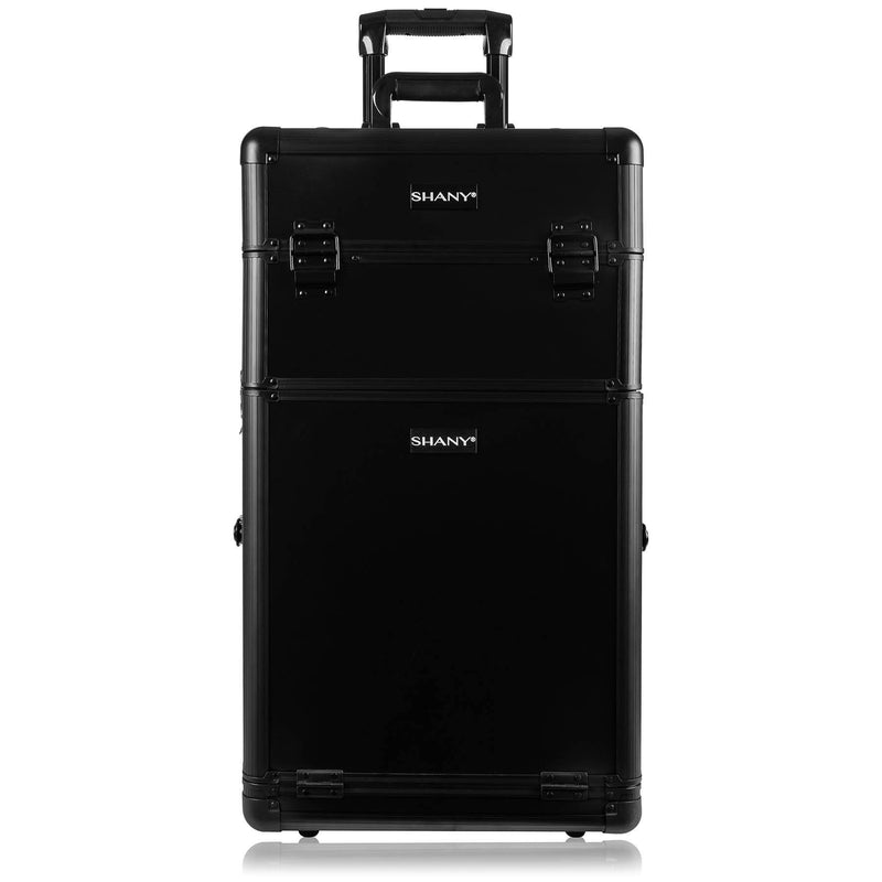 SHANY Rebel Trolley Makeup Case - BLACK -  - ITEM# SH-REBEL-NL-BK - Best seller in cosmetics ROLLING MAKEUP CASES category