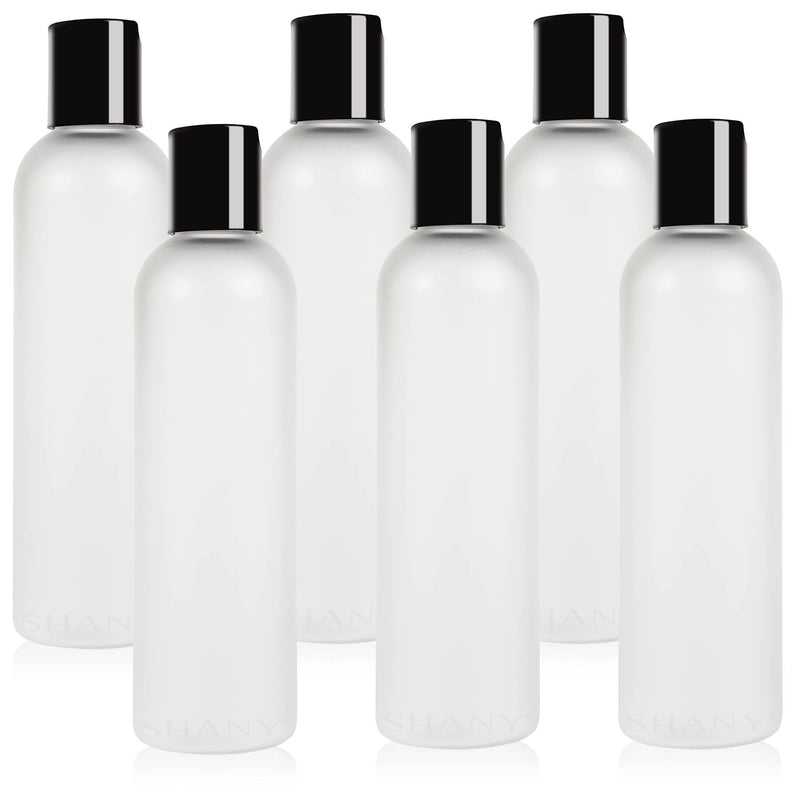 SHANY Frosted Travel-ready Bottle 4-ounce Set of 6