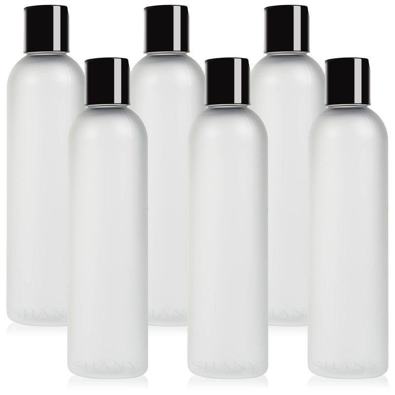 SHANY Frosted Travel-ready Bottle 8-ounce Set of 6