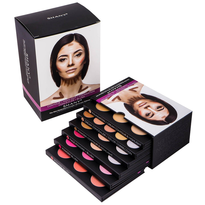 SHANY Mini Masterpiece Makeup Kit– Shaping, Highlighting  and Contouring Palettes