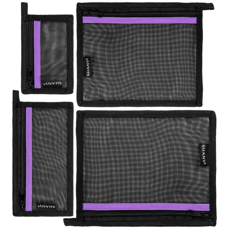 SHANY 4-in-1 Mesh Travel Makeup Bag Set