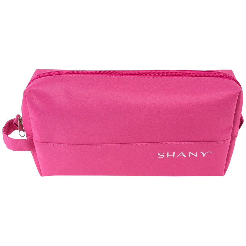 SHANY Nylon Zippered Toiletry Bag - PINK