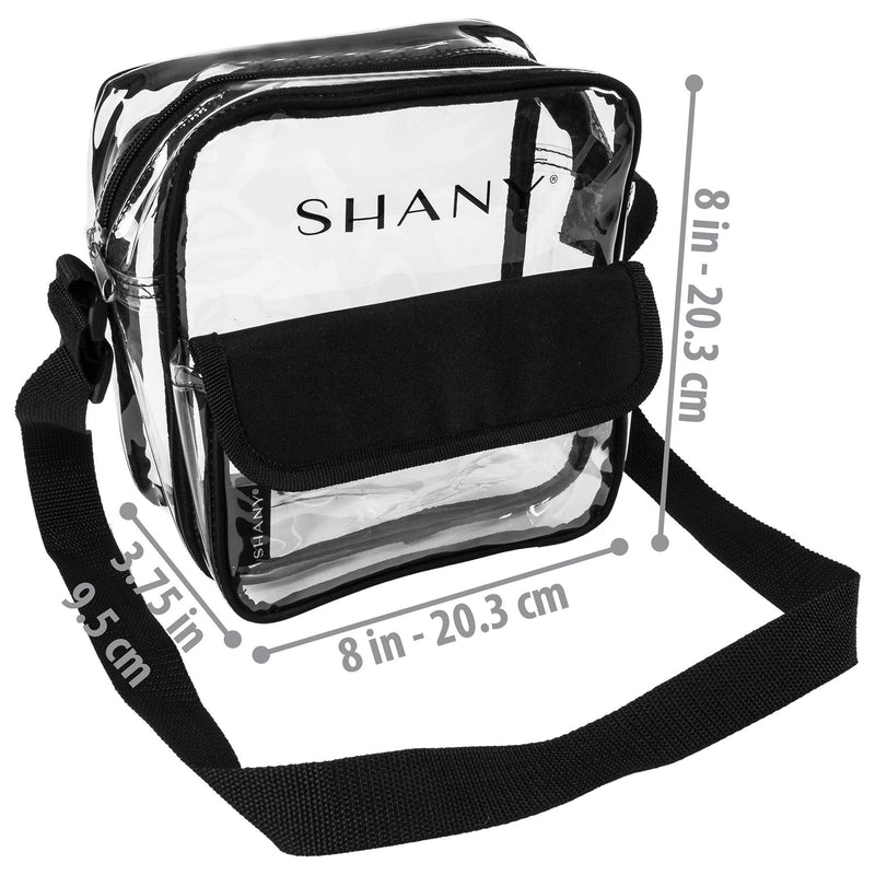 SHANY Clear All-Purpose Cross-Body Messenger Bag