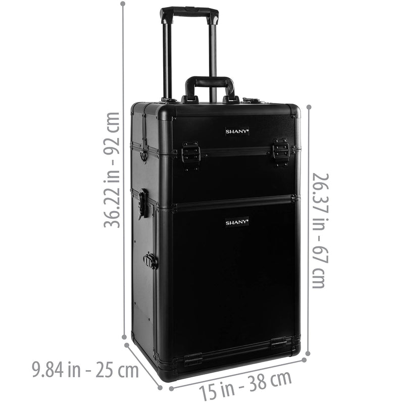 SHANY Rebel Trolley Makeup Case - BLACK