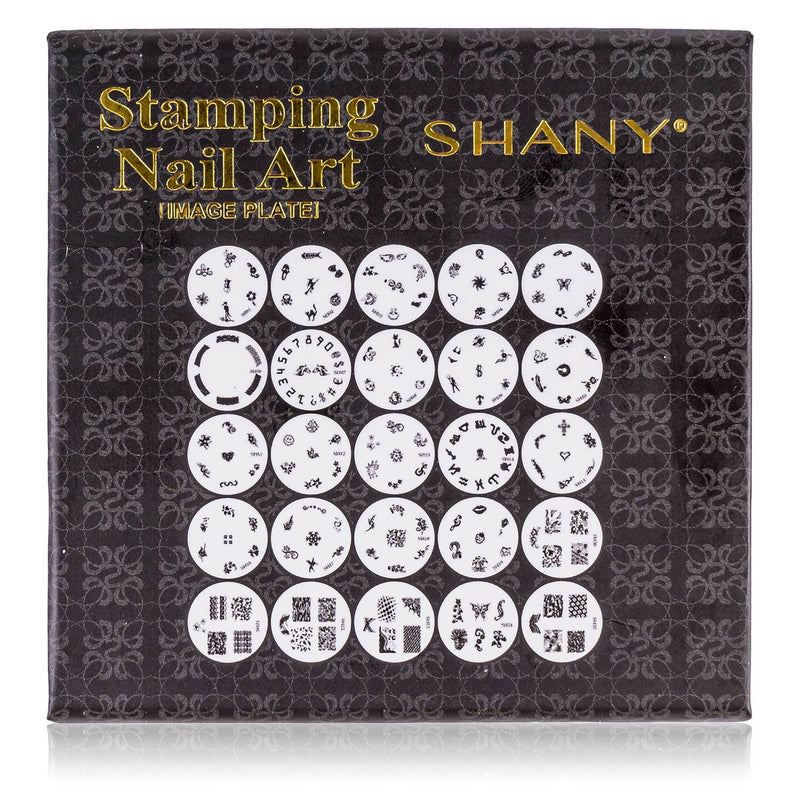 SHANY Nailart Polish Stamping Manicure Image Plates with Storage - 25 Designs - Set #1 - SHOP SILVER - NAIL ART - ITEM# SH-IMAGEPLATES-01